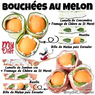 Bouchées au melon