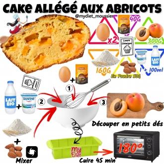 Cake allégé aux abricots