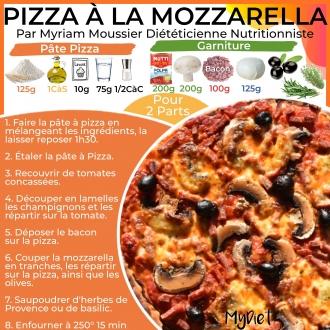 Pizza à la mozzarella