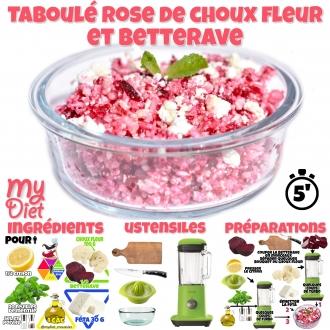 Taboulet rose de choux fleur et betterave