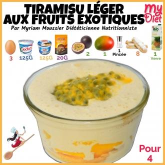 Tiramisu léger aux fruits exotiques