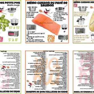 Memo cuisson : Petits Pois / Saumon / Pommes de terre